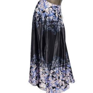 Sequin Hearts Long Fully Lined Floral Skirt Sz 13